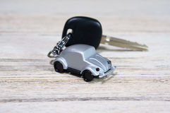 Car toy with car key Royalty Free Stock Photos