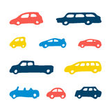 Car toy color seamless pattern background Stock Images