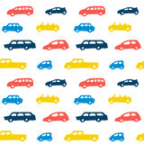 Car toy color seamless pattern background Stock Image