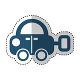 Car toy isolated icon Stock Photo