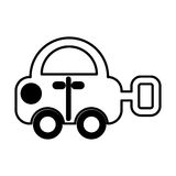 Car toy isolated icon Stock Photography