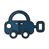 Car toy isolated icon Stock Images