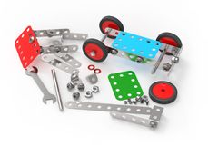 Car toy mechanical construction. Stock Photography