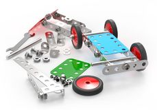 Car toy mechanical construction. Stock Image