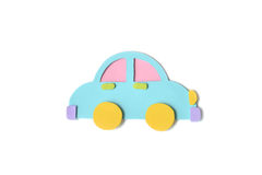 Car toy paper cut - isolated Stock Image