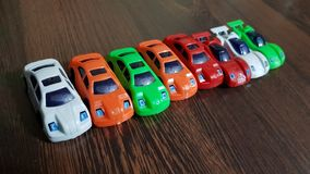 Car toy. Row of car toy Royalty Free Stock Photos