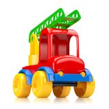 Car toy with stairs. 3D illustration Stock Photos