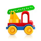 Car toy with stairs. 3D illustration Royalty Free Stock Photo