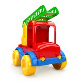 Car toy with stairs. 3D illustration Stock Photography