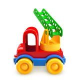 Car toy with stairs. 3D illustration Royalty Free Stock Photography