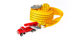 Car toy with towing rope Stock Image
