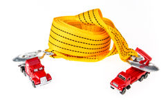 Car toy with towing rope Stock Photography