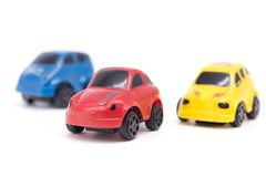 Car toy on white background. Royalty Free Stock Photography