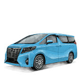 Car Toyota Alphard sketch Stock Photography