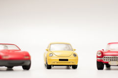 Car toys on white Stock Images
