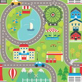 Car track seamless pattern Royalty Free Stock Image
