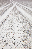 Car tracks Royalty Free Stock Photos