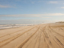 Car tracks on the sand Stock Photography