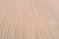 Car tracks on sand Stock Image
