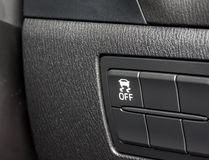 Car traction control button Royalty Free Stock Photo