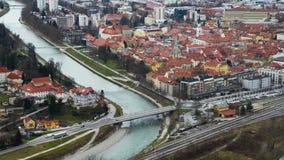 Car traffic in Celje, Slovenia stock video