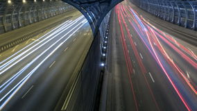 Car traffic on high-speed road stock footage