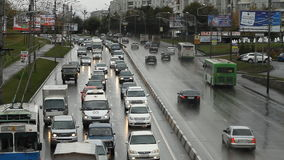 Car traffic. Highway. Highway traffic. Cars and trucks on freeway. Road assistance stock video