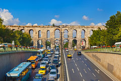 Car traffic at Istanbul Turkey. Transportation background Royalty Free Stock Photos