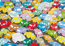 Car traffic jam stock illustration