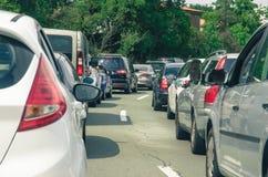 Car traffic jam Stock Photos