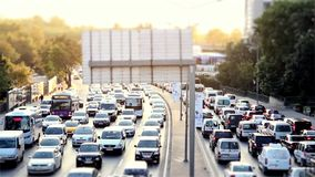 Car traffic jam on the highway time lapse. Car traffic jam on the highway 1920x1080 timelapse stock video footage