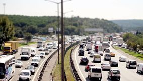 Car traffic jam on the highway time lapse. Car traffic jam on the highway 1920x1080 timelapse stock video