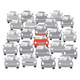 Car traffic jam. Vector illustration of car traffic jam Royalty Free Illustration