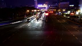 Car Traffic in Night , timelapse. stock video footage
