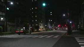 Car traffic in the night  in Tokyo, Japan stock video footage