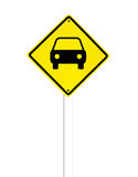 Car Traffic sign on a white Stock Photography