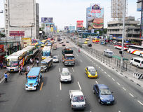 Car traffic on the streets in Manila Stock Photo