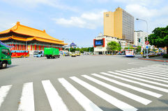 Car traffic on the streets of Zhongzheng, Taipei Stock Photo