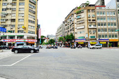 Car traffic on the streets of Zhongzheng, Taipei Royalty Free Stock Photography