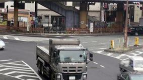 Car traffic in Tokyo, Japan stock video footage