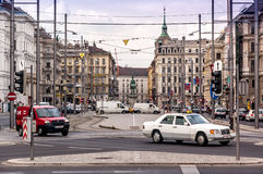 Car traffic in Vienna, Austria Royalty Free Stock Photography