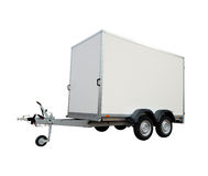 Car trailer. Trailer on a white background Royalty Free Stock Photography