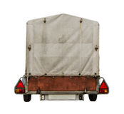 Car Trailer With Canvas Stock Images