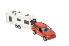 Car and trailer caravan Royalty Free Stock Photo
