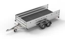 Car trailer isolated on white Stock Image
