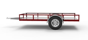 Car trailer isolated on white Royalty Free Stock Photography