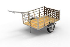 Car trailer isolated on white Stock Photo