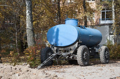 Car trailer tank Royalty Free Stock Images
