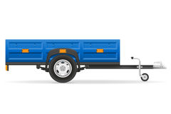Car trailer for the transportation of goods vector illustration Stock Image