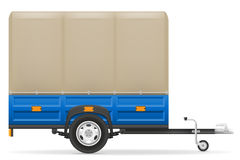 Car trailer for the transportation of goods vector illustration. On white background royalty free illustration